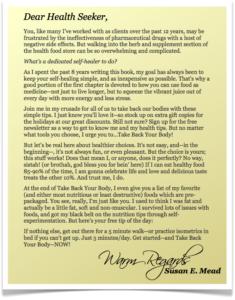 """""""Dear Health Seeker..."""" A letter"""